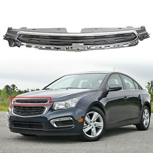 Upper Black Chrome Grille Grill Fits 2015 2016 Chevy Chevrolet Cruze Gm1200725c
