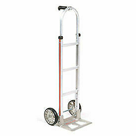 Magliner Aluminum Hand Truck With Pin Handle Mold on Rubber Wheels