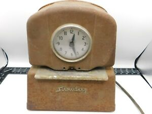 Vintage Stromberg Model 36 Automatic Time Punch Clock Industrial Working Key