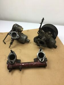 Triumph Tr2 Tr3 Original Carburetors And Intake Manifold Parts Repair