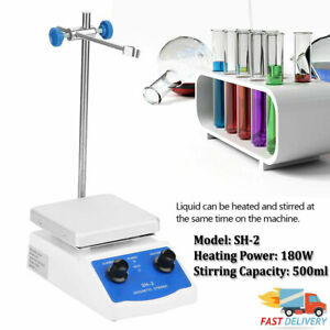 Sh 2 Hot Plate Magnetic Stirrer Mixer Stirring Laboratory 500ml 0 1600r min
