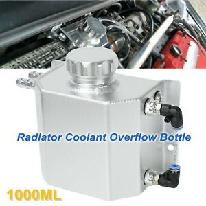 1000ml Sliver Aluminum Radiator Coolant Overflow Bottle Recovery Water Tank New