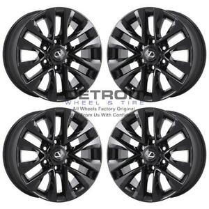 18 Lexus Gx460 Gloss Black Exchange Wheels Rims Factory Oem 74297 2013 2020