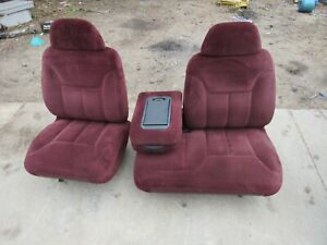 95 98 Chevy Silverado Suburban Tahoe Gmc Sierra Blue Power 60 40 Bench Seat