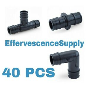 40 Pcs 1 2 Propex Ep Fittings Uponor Style Tees Elbows Couplings