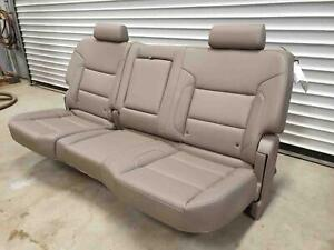 Rear Seat Crew Cab Cocoa Dune Leather H0k Chevy Silverado 2500 2016 Used Oem