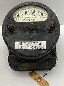 Rare Los Angeles General Electric Single Phase 110 Volt Induction Watthour Meter