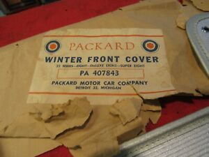 1948 50 Packard Accessory Winter Front Covers