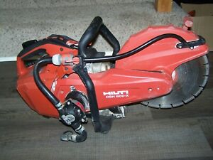 Hilti Concrete Saw Dsh 600 x Gas Powered Power Cutter Cut Off With Water Pump
