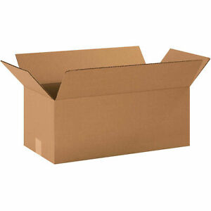 20 X 10 X 8 Long Cardboard Corrugated Boxes 65 Lbs Capacity Ect 32 Lot Of