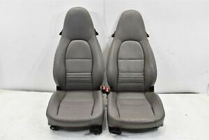 2001 Porsche Boxster S Left Right Seat Pair Driver Passenger 01