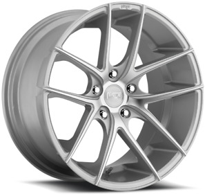 19 Staggered Niche M131 Targa Silver Machined Wheels Qty 4