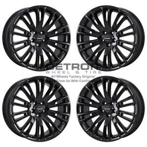 20 Chrysler 300 Wheels Rims Factory Oem 2005 2019 Set 2555 Gloss Black
