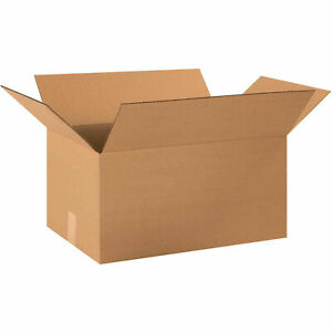 20 X 13 X 10 Long Cardboard Corrugated Boxes 65 Lbs Capacity Ect 32 Lot Of