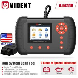 Vident Ilink440 Four System Scan Tool Support Engine Abs Airbag Srs Epb Reset