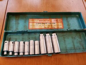 Mac Tools 3 8 Drive 6 7 9 13 16 18mm 6pt Deep Sockets Lot Of 10 With Case