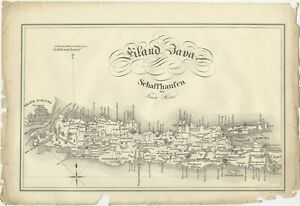 Antique Map Of Java By Hurter 1830