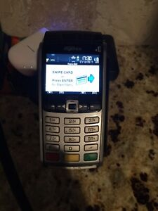 Used Ingenico Iwl255 Wireless Credit Card Terminal With Charger Cord