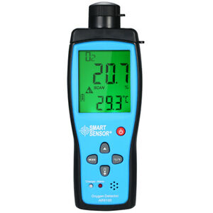 Ar8100 Portable Digital Oxygen Meter Buzzer Analyzer Large Lcd Screen For Home