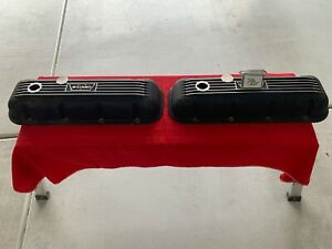 Vintage Weiand Valve Covers 396 427 454 402 Chevrolet Bbc Hot Rod W Logo Nice