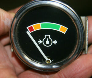 Stewart Warner Vintage Oil Pressure Gauge No Numbers
