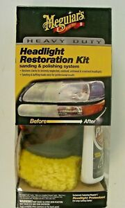Meguiar s Heavy Duty Headlight Restoration Kit G3000 New Read