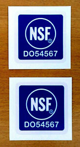 Two 2 Nsf National Science Space Nasa Restaurant Safety Decal Stickers 1 X 1