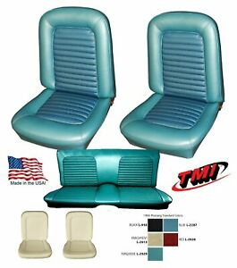 Upholstery And Foam Set 1966 Mustang Convertible Seat Cover Any Color Tmi