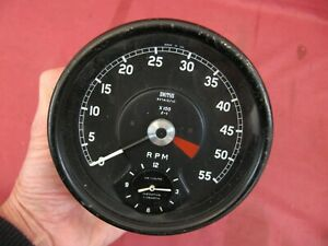 Smiths Jaguar Series 1 Xke Early Tachometer Revcounter With Clock Rv7413 10