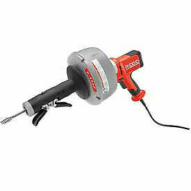Ridgid 174 K 45 Manual Drain Cleaner W bulb Auger 25 l X 5 16 w Cable