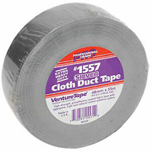 3m Venturetape1557 Premium Cloth Duct Tape 2 In X 60 Yards Silver