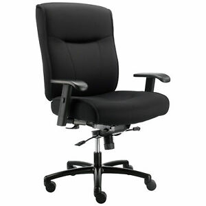Big And Tall Office Chair With Arms Fabric Black