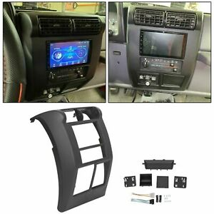 For Jeep Wrangler Tj 1997 2002 Double Din Dash Bezel Radio Stereo Mounting Kit