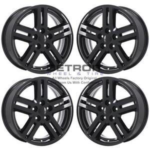 17 Dodge Avenger Gloss Black Wheels Rims Factory Oem 2308 2008 2010 Set