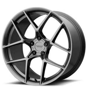 19 Staggered American Racing Wheels Ar924 Crossfire Graphite Rims Qty 4