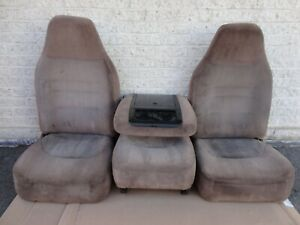 92 96 97 Ford Pickup Truck Front Bucket Jump Seats 40 20 40 Tan