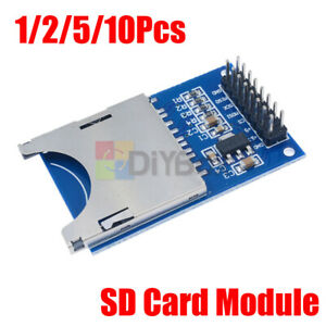 1 10pcs Sd Card Module Slot Socket Reader Fit For Arduino Arm Mcu Read And Write