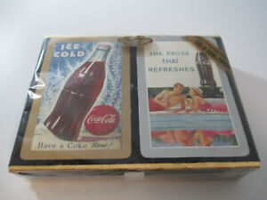 Coca-Cola Playing Cards 2 Deck Set by Congress Pause that Refreshes