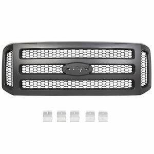 Black Grille Assembly For Ford 05 07 F250 F350 Super Duty New