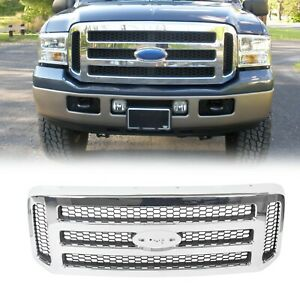 Chrome Grille For Ford 2005 2006 2007 Super Duty F250 F350 Conversion Grill New