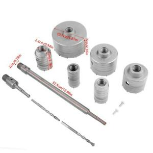 10pc Tct Core Drill Set Sds Plus Extension Shank Tungsten Masonry Hole Cutter Us