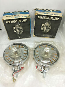 Rare Vintage Fog Light Fog Lamp Clear Yellow Like Lucas Chevy Hotrod Ratrod