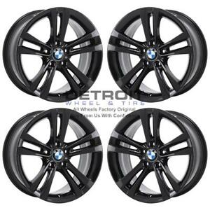 18 Bmw 320i Gloss Black Exchange Wheels Rims Factory Oem 71540 2012 2019