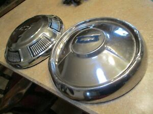 1954 And 1968 Vintage Chevy Belair Hubcaps Dogfish Poverty