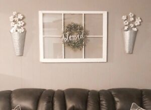 6 Pane Window Old Vintage Shabby Chic Window Frame From Civil War House Antique