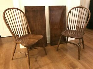 Set Of 8 Custom Walnut English Style Windsor Chairs