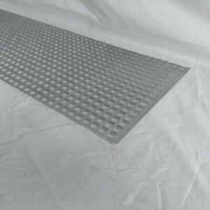 Perforated Metal Aluminum Mill Sheet 1 8 Thick 12 X 48 X 1 2 Square Hole