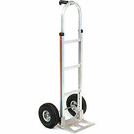 Magliner Aluminum Hand Truck With Pin Handle Pneumatic Wheels