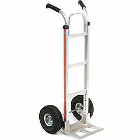 Magliner Aluminum Hand Truck With Double Handle Pneumatic Wheels