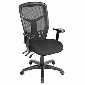 Multifunction Office Chair Mesh Back Fabric Upholstered Seat